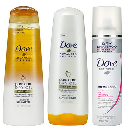 free-dove-pure-care-hair-products